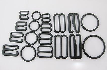 83761c8a0a0f1 Lyracces 100pcs Nylon Coated Metal bra Lingerie Adjustment strap slides  rings Rectangular Figure adjustor 8 0
