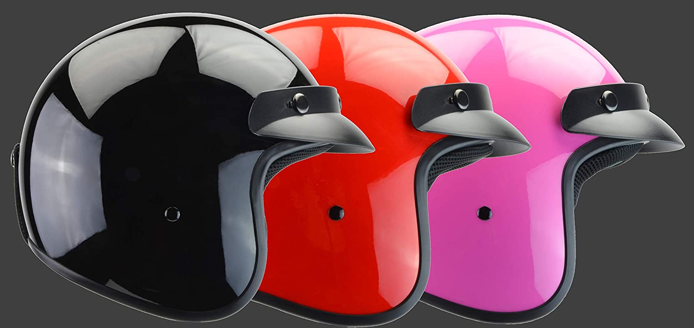 Vega Helmets Unisex-Child Style CO5 Youth Open Face Helmet Pink Medium 8100-363