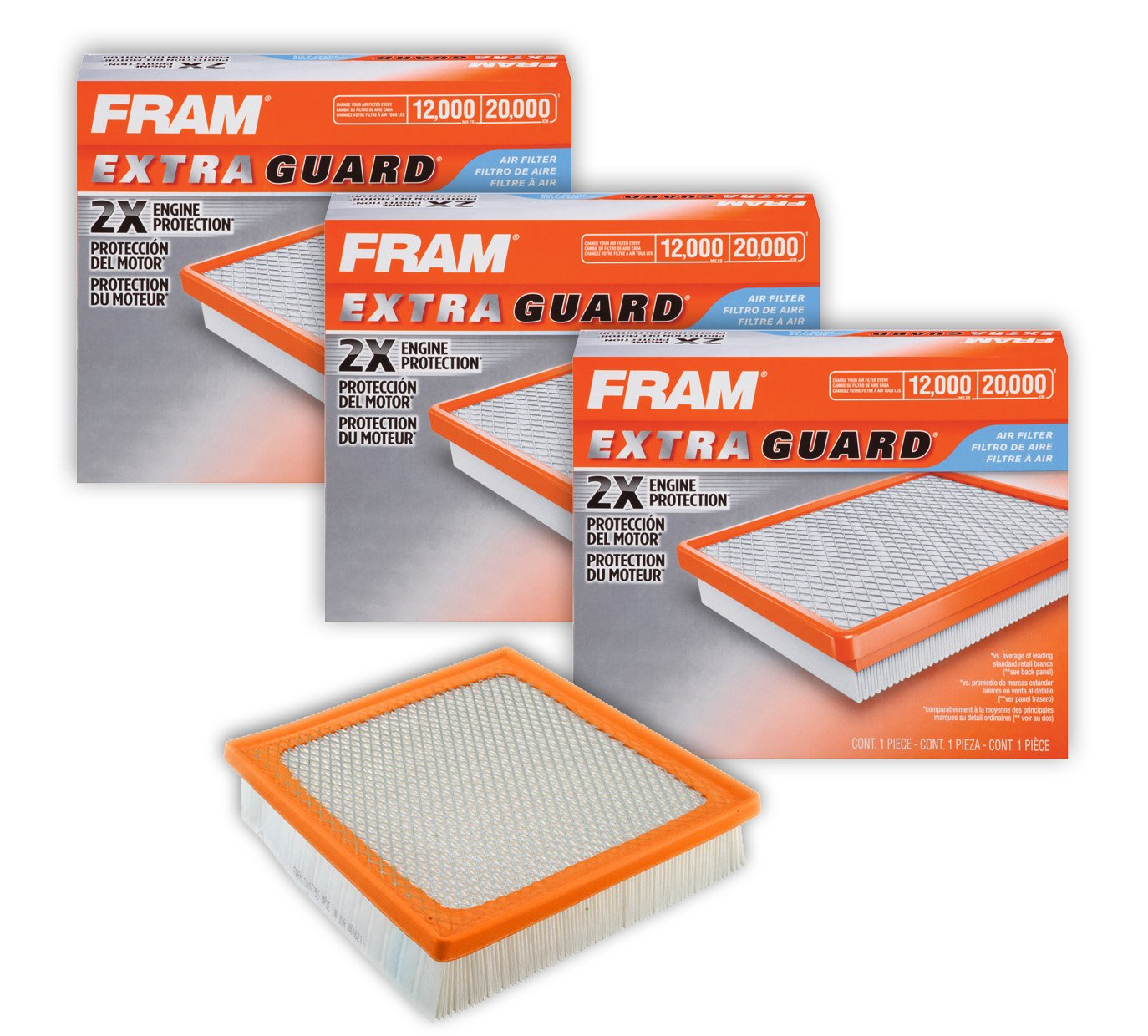 Fram CA10755 Extra Guard Panel Air Filters (3 Pack)