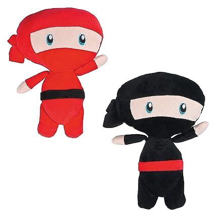 Amazon.com: Fun Express Ninja de peluche negro y rojo de 11 ...