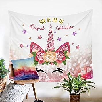 Sleepwish Tapiz de Unicornio con diseño de Cuento de Hadas ...