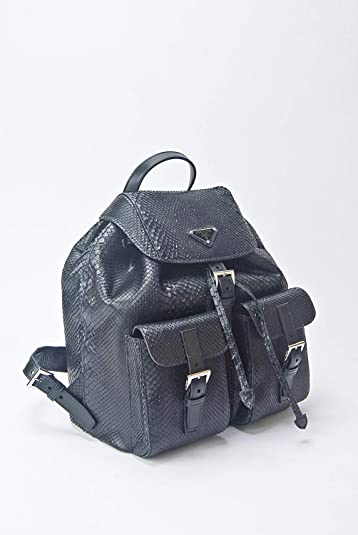 9829362d403c Amazon.com: Prada Impossible To Find Black Genuine Python Snake Skin  Backpack Purse Bag - Current Season Sold Out: Shoes