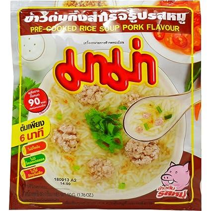 Mama pre-cooked Arroz Sopa (Khao Tom) cerdo Sabor neta WT 50 ...