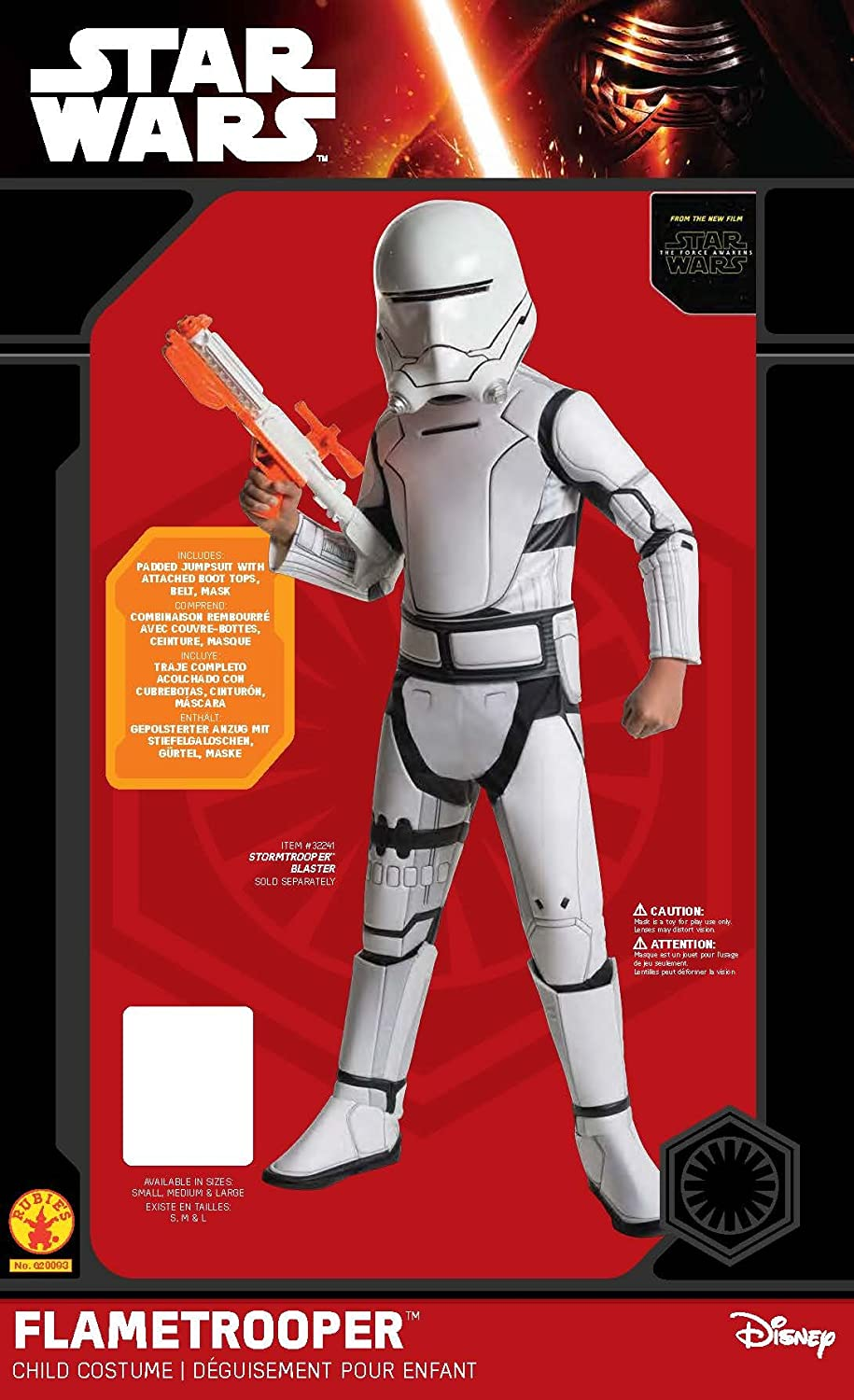 Star Wars: The Force Awakens Childs Super Deluxe Flametrooper Costume, Medium