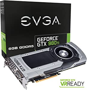 EVGA GeForce GTX 980 Ti 6GB GAMING, Silent Cooling Graphics Card 06G-P4-4990-KR