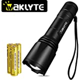 1000 Lumens Tactical Flashlight, Waklyte S04D CREE XML-T6 LED Flashlight, High Lumen, Super Bright, Military Grade Handheld Tac Light for Hiking, Camping, Travel, Emergency and EDC (Battery Included)