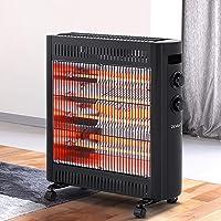 Devanti 2200W Electric Infrared Radiant Heater Portable Convection Halogen Panel Heating Heat Black