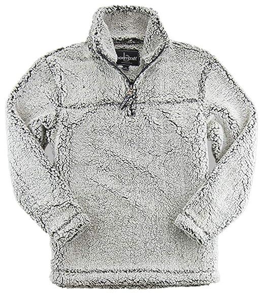Boxercraft Adult Super Soft   Zip Sherpa Pullover Smokey Grey X