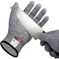 Cut Resistant Gloves, High Performance Level 5 Protection, Knife Cutting Safety Gloves for Shucking, Carving, Meat Cutting, Butchering, Machine Slicing, Whittling in the Kitchen and Outdoor - Large (1