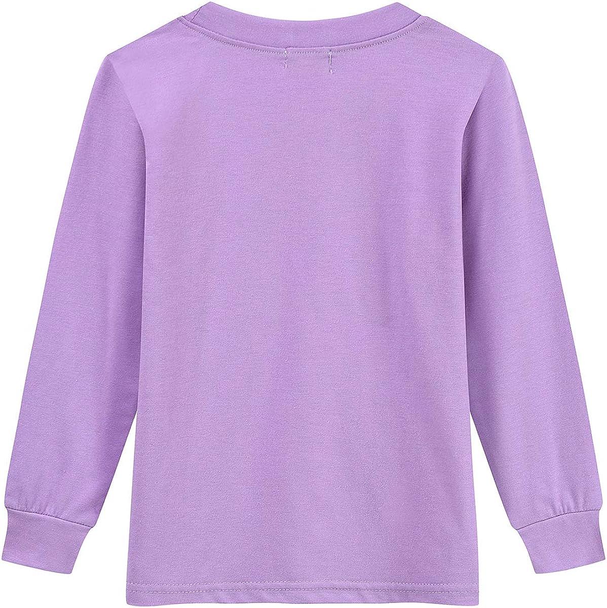 Toddler Girls Pajamas Sets Ladybug 100/% Cotton Flamingo Unicorn Pjs Jammies Long Sleeve Kids Sleepwear for Size 2-7 T