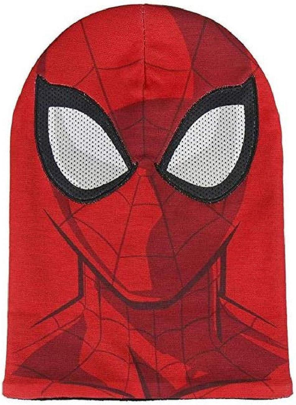 Cappello Maschera Bambino Spiderman Occhi 3 D Berretto Invernale Uomo Ragno