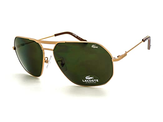 387b0f1ae6a LACOSTE L121S 714 Aviator Sunglasses Gold  Grey Green  Amazon.co.uk   Clothing