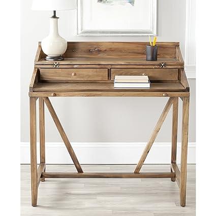 amazon com safavieh american homes collection wyatt oak writing rh amazon com oak writing desk uk oak writing desk nz