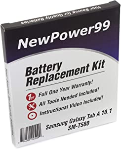NewPower99 Battery Replacement Kit with Battery, Instructions and Tools for Samsung Galaxy Tab A 10.1 SM-T580