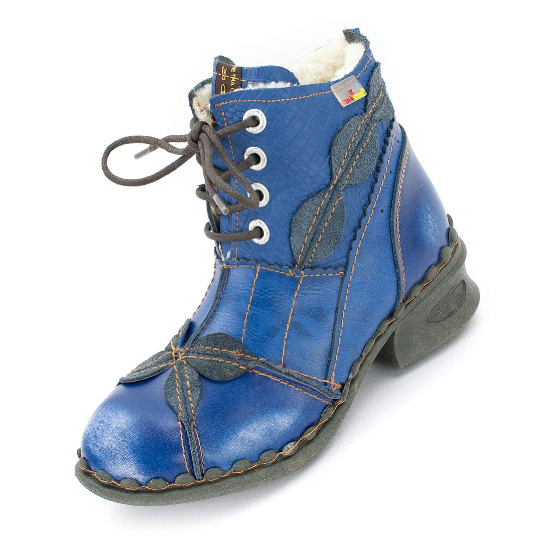 36-42 TMA 5766 Komfortable Damen Winter Stiefel gefüttert weiß alle Gr