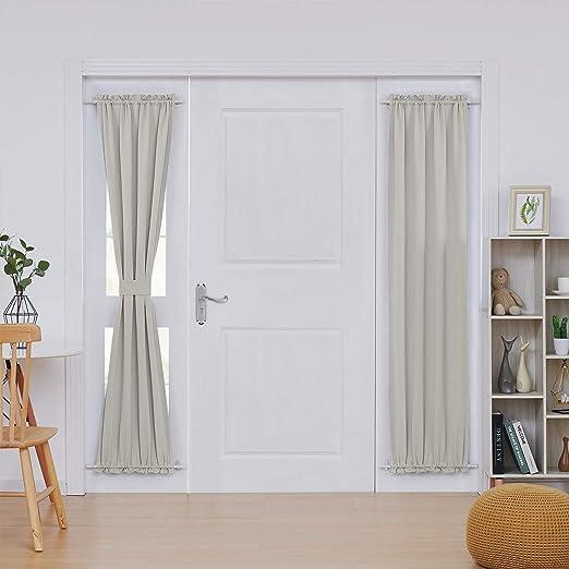 Amazon Com Deconovo Door Panel Curtain Rod Blackout Drapery