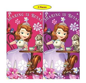 Theonoi Disney - Juego de 2 Toallas de Mano para niños (35 x 65 cm), diseño de Sofia The First, Sofia 02, 35 x 65 cm: Amazon.es: Hogar