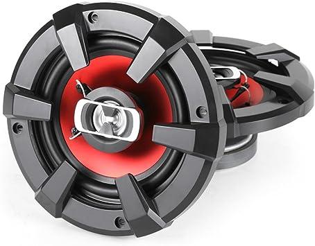 16 cm , Auto-Boxen mit 1200 Watt, Paar Auna CS-Red-6 Auto-Lautsprecher Klangstarke 6 Zoll