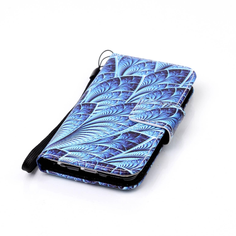 Kompatibel mit iPod Touch 6G H/ülle,iPod Touch 5G H/ülle,Bunte Gem/älde Gemalt PU Lederh/ülle Flip H/ülle Cover St/änder Karten Slot Wallet Tasche Case Schutzh/ülle f/ür iPod Touch 6//5,Lila Schmetterlings