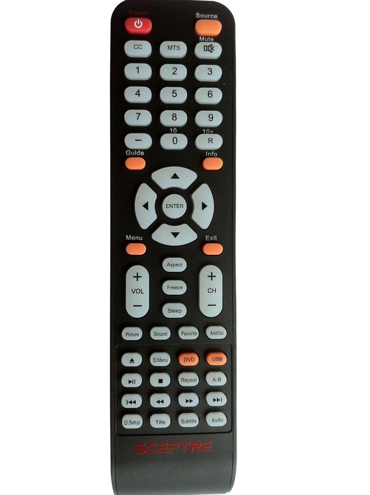 Control Remoto Sceptre X32 TV/DVD Combo E165BDHD E195BDSH...