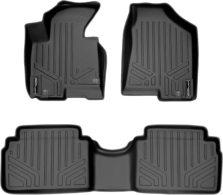 SMARTLINER Custom Fit Floor Mats 2 Row Liner Set Black for 2011-2013 Kia Sportage 2010-2013 Hyundai Tucson