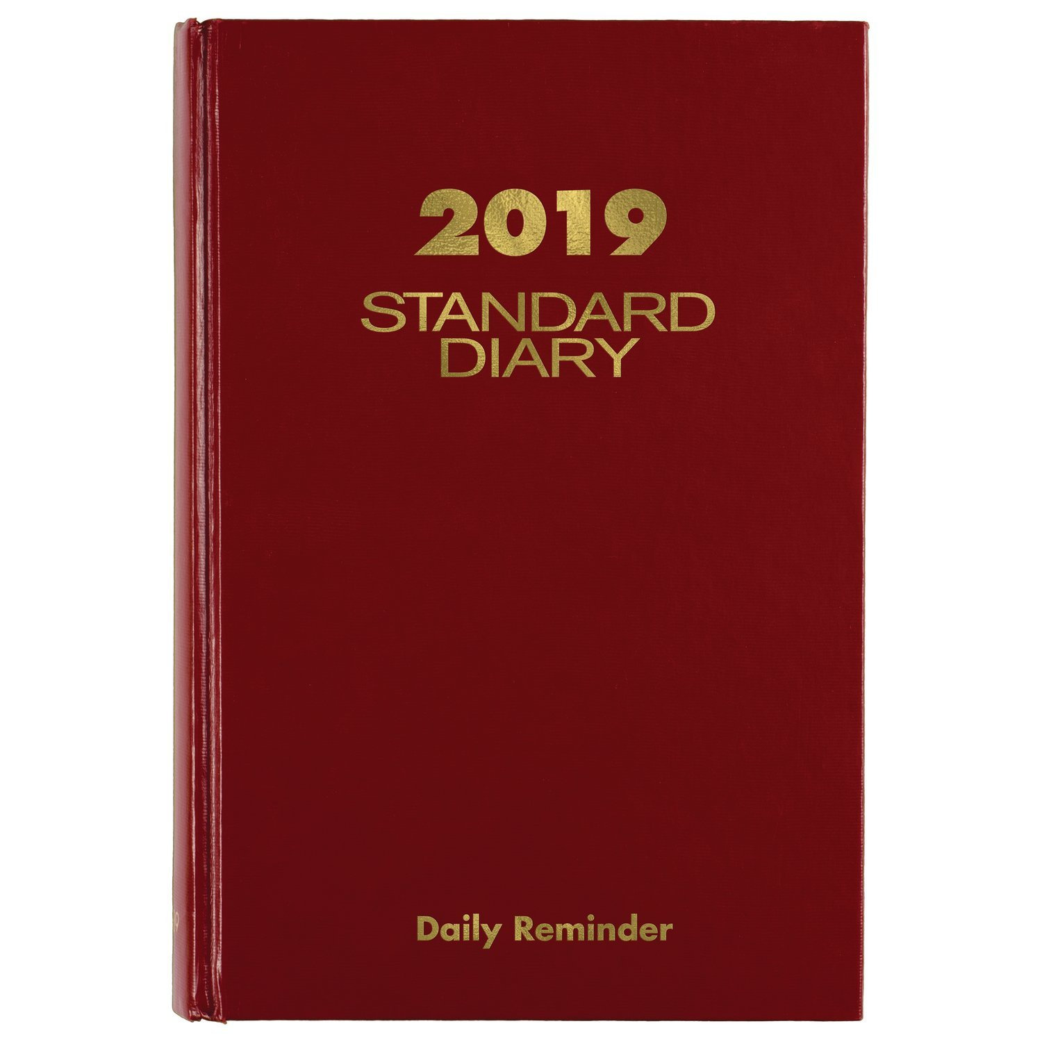 AT-A-GLANCE 2019 Standard Diary Daily Reminder, 5-3/4'' x 8-5/16'', Medium, Red (SD38913)