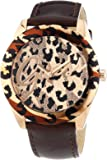 Guess - W0455L3 - Temptress - Montre Femme - Quartz Analogique - Cadran Doré - Bracelet Cuir Marron