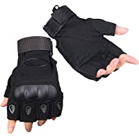 ThreeH Tactical Half Gloves Half Finger Wear Resistant Anti-Slip Hard Knuckle Airsoft Cycling Gloves GL07