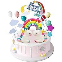 iZoeL Unicornio Decoración de Tartas Cumpleaños Happy Birthday