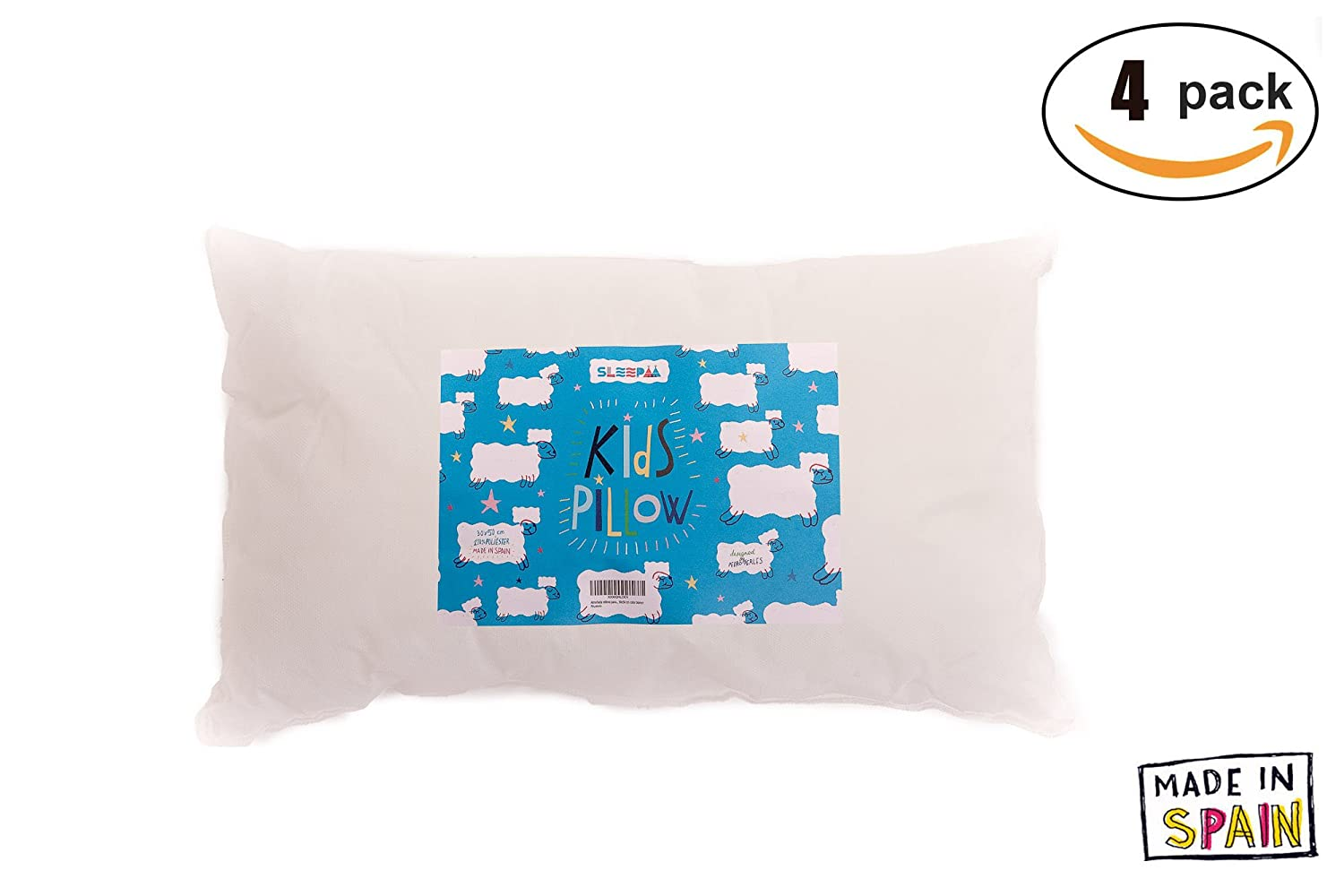 Cushion Pad 30x50 cm Filling for Crib Washable Breathable antimite White Made in Spain (1 Single Unit) SLEEPAA