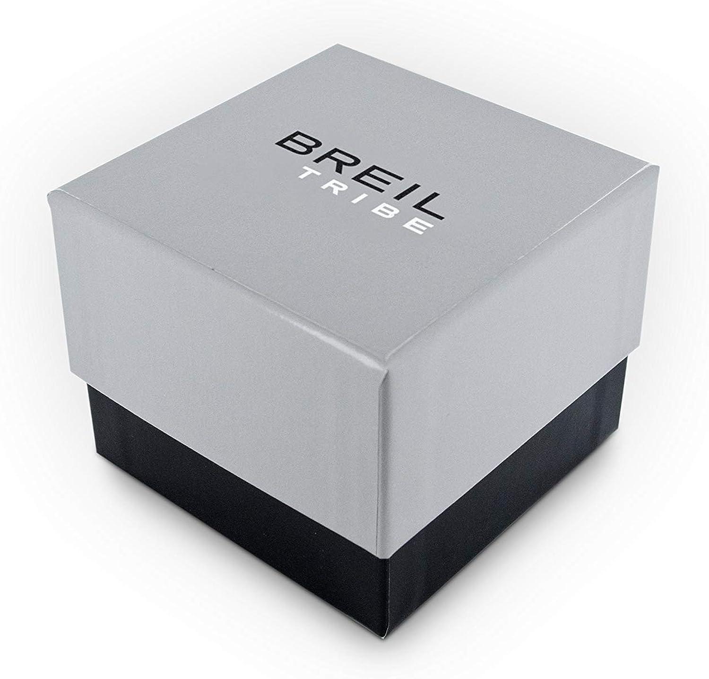 Montre BREIL pour Homme Fast avec Bracelet en Acier, Mouvement Chrono Quartz Bracelet: Acier; Cadran: Noir