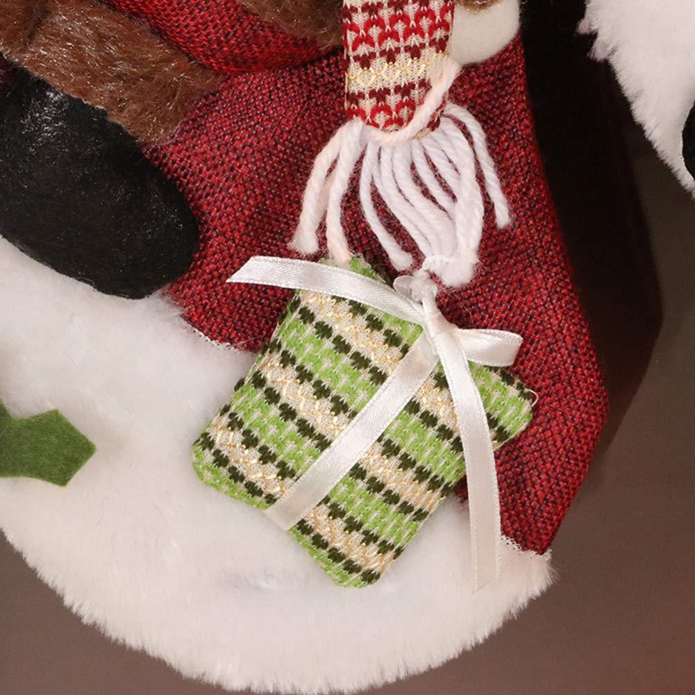 WDOIT Chaussette de No/ël en Forme de Bonbons de No/ël 22cm 46 Style 1 28