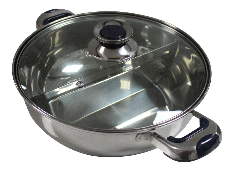 HCX 30 cm Shabu Shabu Dual Sided Hot Pot With Divider by HCX