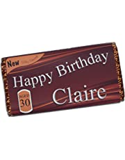 Personalised Happy Birthday 114g Galaxy Milk Chocolate Bar ~ 16th 18th 21st 30th 40th 50th 60th 70th 80th Birthday Gift Present Idea N42 - ANY AGE for him her Mum Dad Brother Sister
