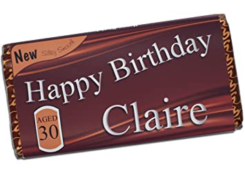 Personalised Happy Birthday 114g Galaxy Milk Chocolate Bar 16th 18th 21st 30th 40th 50th 60th 70th 80th Gift