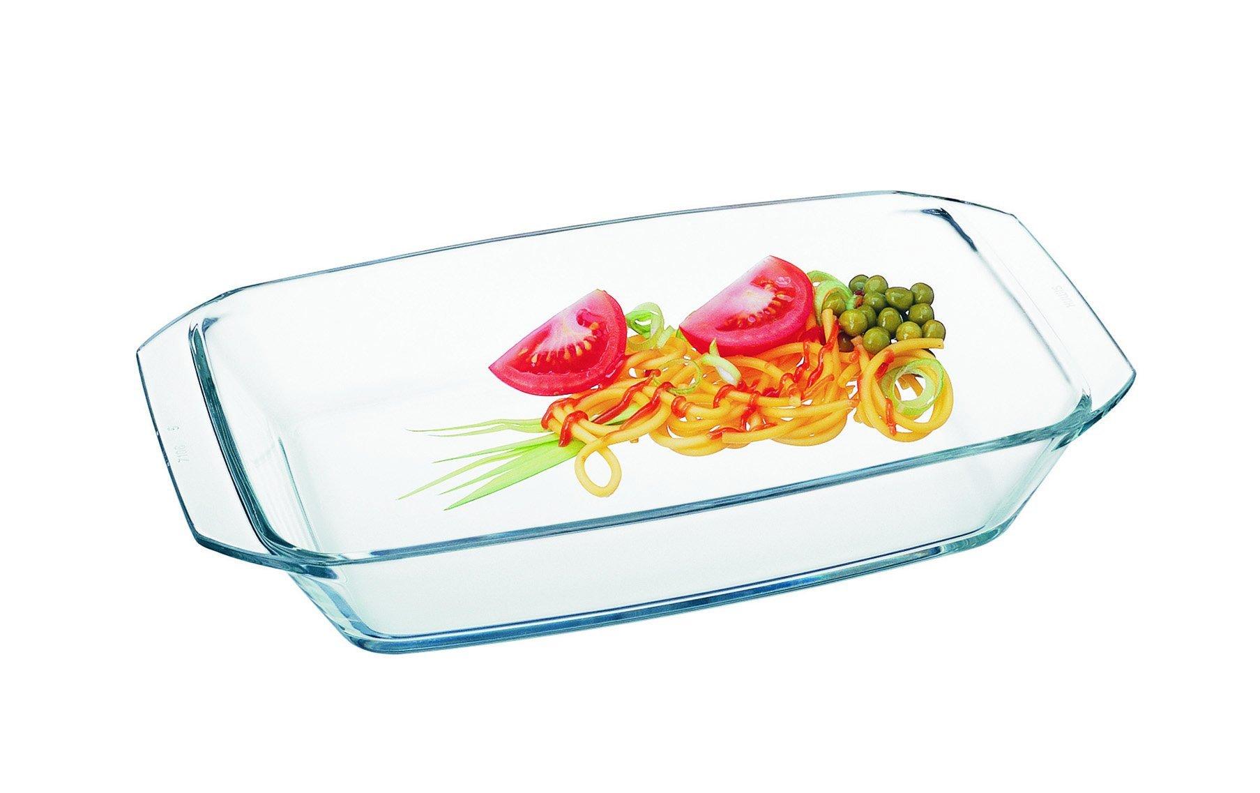 Simax Glassware 7106 Rectangular Roaster, 1.6-Quart, Clear by Simax Glassware