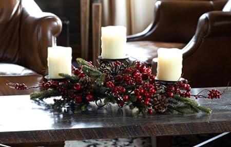 Pack de 3 Navidad tradiciones pino Berry centro de mesa con 3 ...