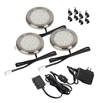 Westek LED Surface Mount Accent Lighting Kit 3 Pack 12V  sc 1 st  Amazon.com & Westek LED Surface Mount Accent Lighting Kit 3 Pack 12V - Under ... azcodes.com
