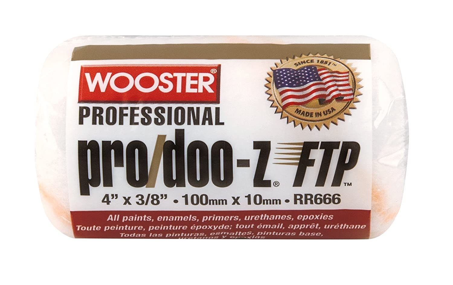 Wooster Brush RR666-4 Pro Doo Z FTP Roller Cover 3/8-Inch Nap