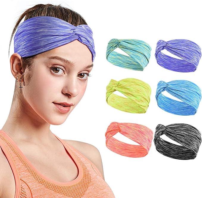 10 pezzi fascia da donna fascia per capelli fascia per capelli yoga corsa sport fasce in cotone elastico antiscivolo fasce per il sudore allenamento moda fasce per capelli per ragazze