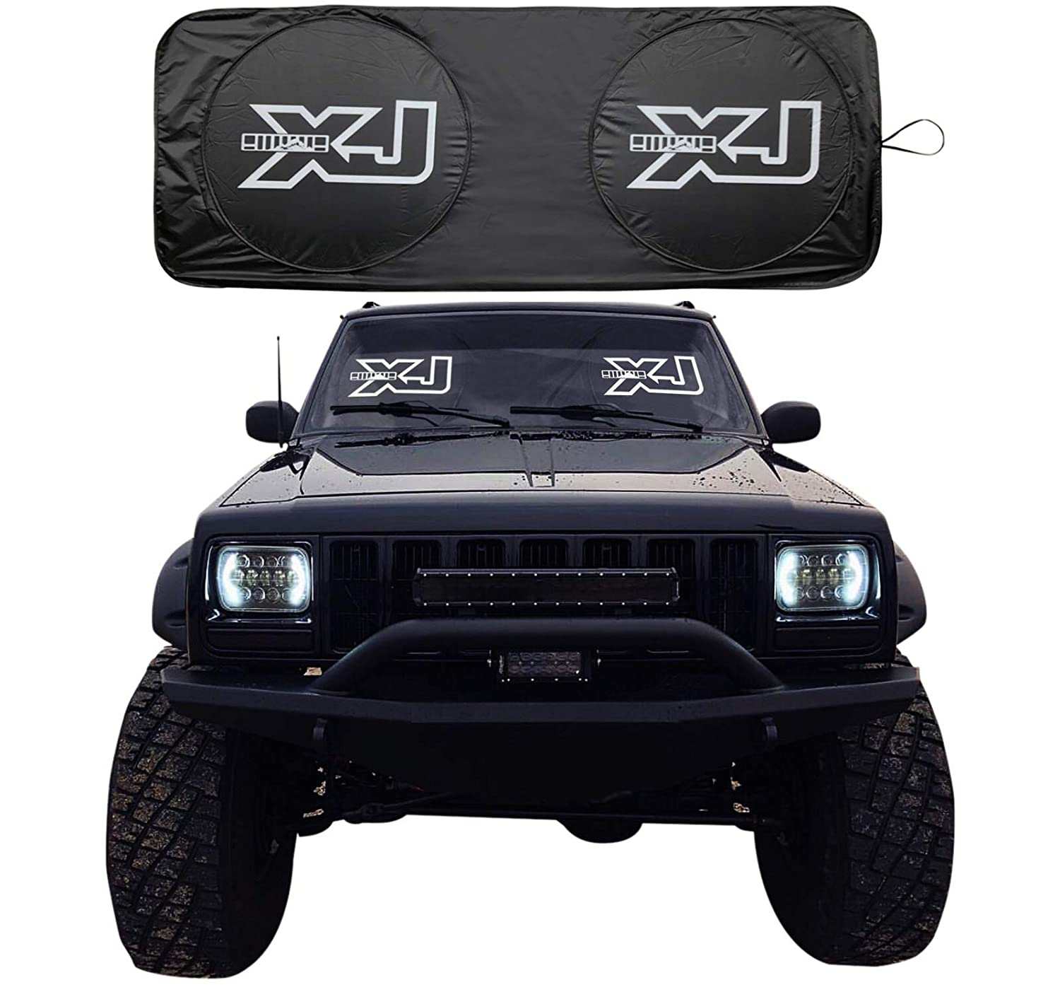Rorex Jeep Cherokee Xj Accessories Windshield Sunshade Banner Sun Aftermarket Fog Lights Shield Fits Every