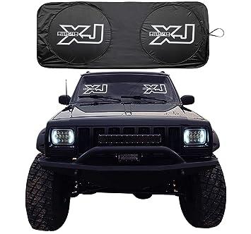 8b3c7934e67 RoRex Jeep Cherokee XJ- Accesorios para Parabrisas, parasoles, carátula,  Parasol, se Adapta a Todos los años XJ1984-2001, Ajuste Personalizado:  Amazon.es: ...