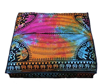 Amazon Craft Place Indian Mandala Floor Pillow Square Ottoman