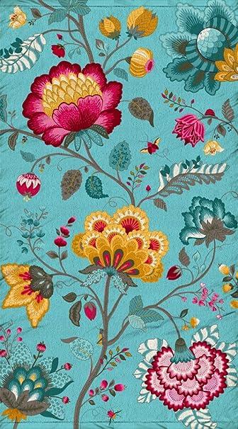 PiP Studio Strandlaken Medina Blau Strandtuch Badetuch Liegetuch Blumen 100x180