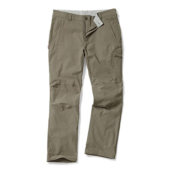 Craghoppers NosiLife Mens Insect Repellent Pro Travel Trousers (30L) (Pebble )
