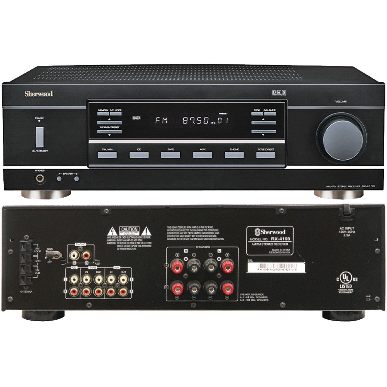 Amazon com sherwood rx 4109 200w stereo receiver black home audio theater