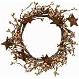 CWI Gifts Pip Ring with Rusty Stars, 4 by 8-Inch, Tea Stain