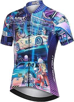 LSHEL Camiseta de Ciclismo para Niños Maillot Bicicleta con Mangas ...