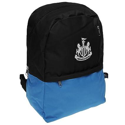 Newcastle United propiedad fútbol mochila negro/azul fútbol bolso – Mochila para niños Gymbag,