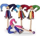 BestSaller 20cm Jester Baguette Avec clochettes (Multicolore)
